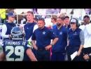 Earl Thomas bowed to the Dallas Cowboys sideline