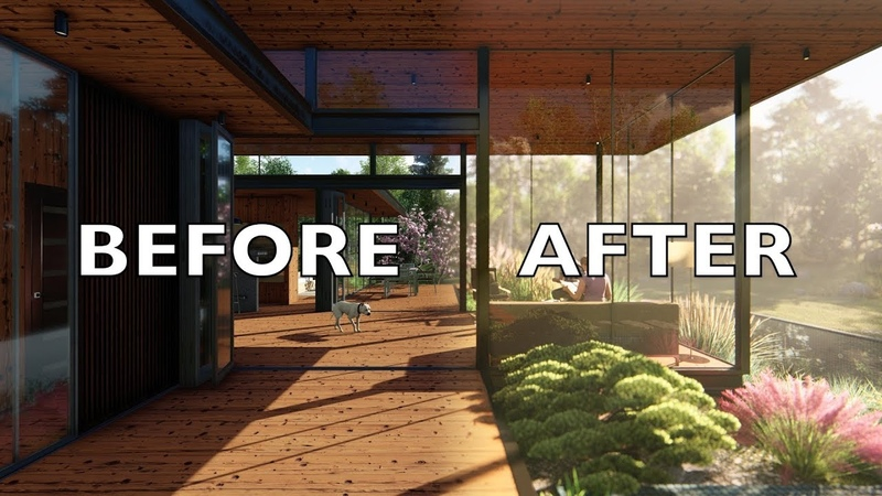 LUMION 8 BEFORE/AFTER Render Tutorial Minimalist Scandinavian House