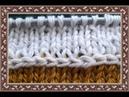 Узор спицами Горизонтальная полоса лицевыми Simple Horizontal Stripes Stitch - Knitting Pattern