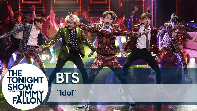 201809025 BTS Performs Idol on The Tonight Show
