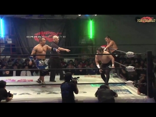 Gamma, Shachihoko BOY vs. Don Fujii, Ryo Saito (Dragon Gate - The Gate of Victory 2018 - Day 4)