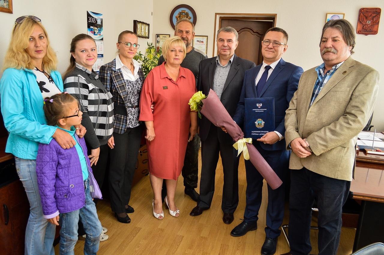Заместитель главы администрации г. Донецка провел встречу с руководителем РООСППИ «РУСИЧИ-ЦЕНТР»