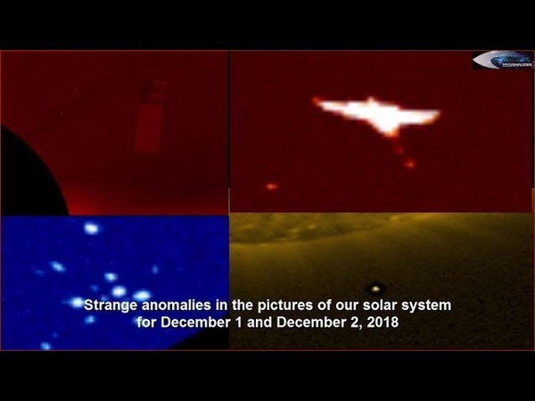 Strange anomalies in the pictures of our solar system for December 1 and December 2, 2018