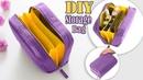 FANTASTIC DIY ZIPPER PURSE BAG Cosmetics Travel Bag Tutorial in 20 Min