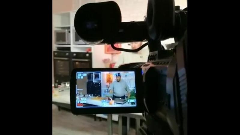Фрагмент съемки программы Монастырская кухня