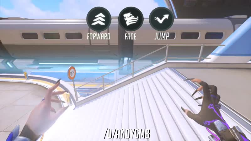 Busan Downtown trainside railing backwards fade to highground