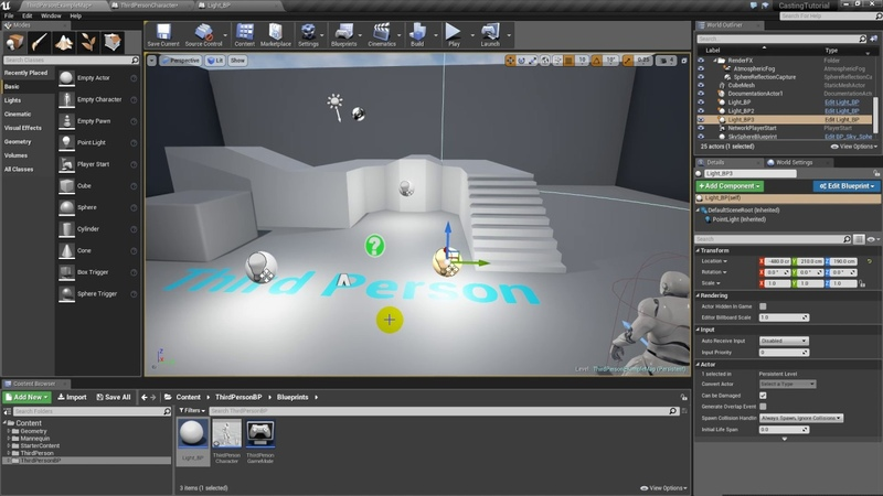 Unreal Engine 4 Sharing between blueprints Casting explained