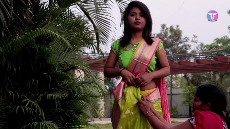 Pure Khari Cotton Saree Drape | How to Wear Ulta Pallu Saree Perfectly in 2 mints I TRICKS I Cotton