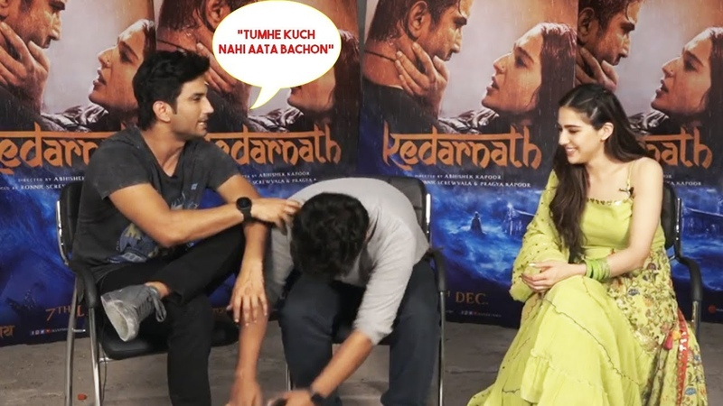 Gyaan baba Sushant and Sara - Kedarnath Interview with Aman Sharma