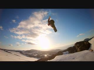 GoPro Sunset Snowboardingwith Sage Kotsenburg, Halldr Helgasonand SvenThorgren