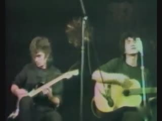 Акустический концерт В. Цоя и Ю. Каспаряна в ДК Связи (декабрь 1986)