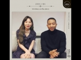 181010 Wendy (Red Velvet) & John Legend @ Selfie Station Message