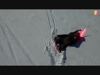 Snow Wars - Chewbacca vs Kylo Ren on Snowboard