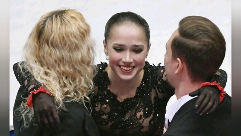 Алина Загитова и тренеры