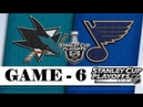 San Jose Sharks vs St. Louis Blues | Western Conference final | Game 6 | NHL 2018/19 | Обзор матча