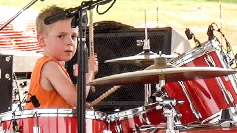 POUR SOME SUGAR ON ME - LIVE (5 year old Drummer) Avery Drummer Molek Ruff Creek (Drum Cover)