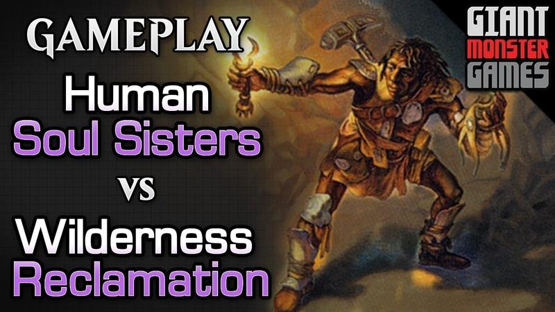 Human Soul Sisters vs Wilderness Reclamation Combo - MTGO Gameplay 03