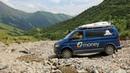 Off road s VW Multivan T5 Seikel 4x4 přes sedla Kavkazu