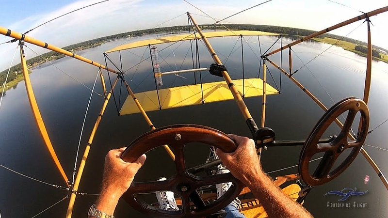 Curtiss Pusher - Full Flight - Uncut Kermie Cam