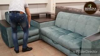 Угловой диван с металлическим каркасом раскладка аккордеон