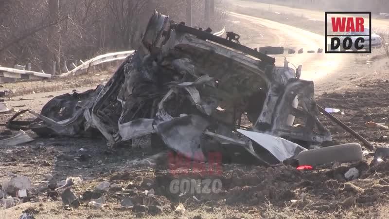 Выживший рассказал подробности взрыва микроавтобуса на Донбассе