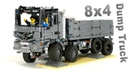 Lego Technic 8x4 Mercedes Actros Dump Truck - Full RC with BuWizz V2 - MOC