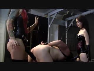 Mistresses gangbang slave