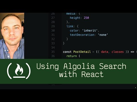 Using Algolia Search with React P5D98 Live Coding with Jesse