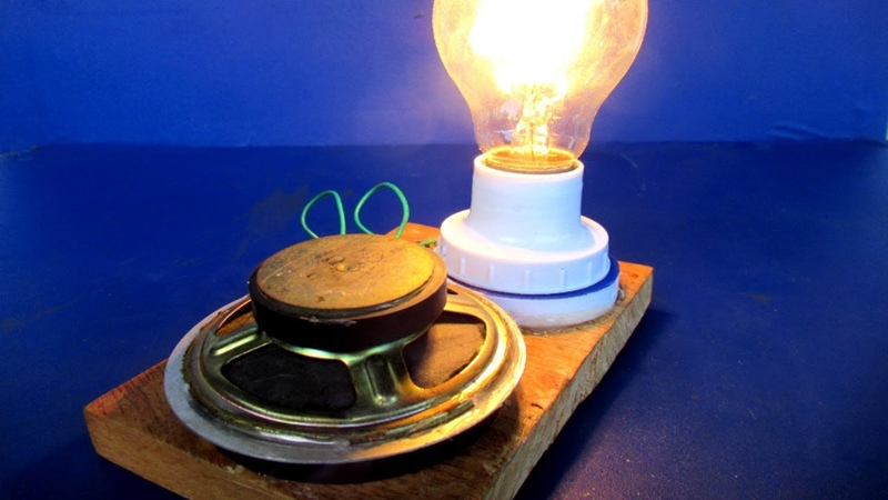 Light bulbs 220 Volts Free energy generator Using Magnets - Science project at home