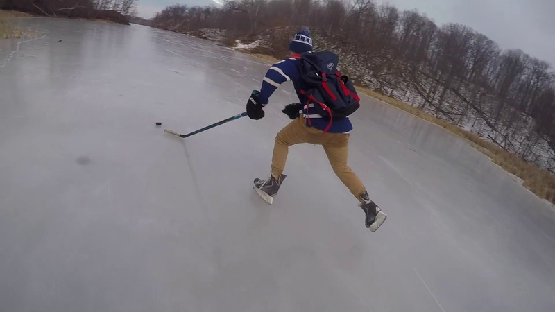 Pond Hockey in Paradise | Amazing Glass ice