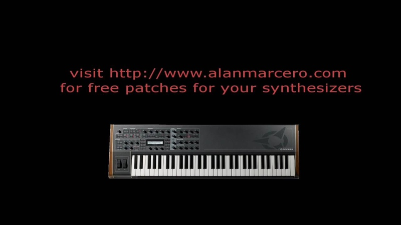 Virtual Analog Synthesizer Access Virus TI Trance Patches Audio Demo
