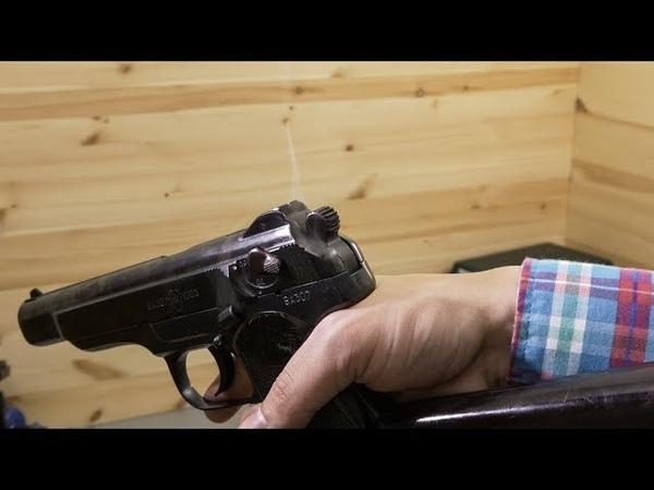 Охолощенный пистолет Стечкина Р 414 АПС СХ Байкал (стрельба)