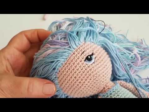 Amigurumi himzett szem 2. How to amigurumi doll embroide eyes 2