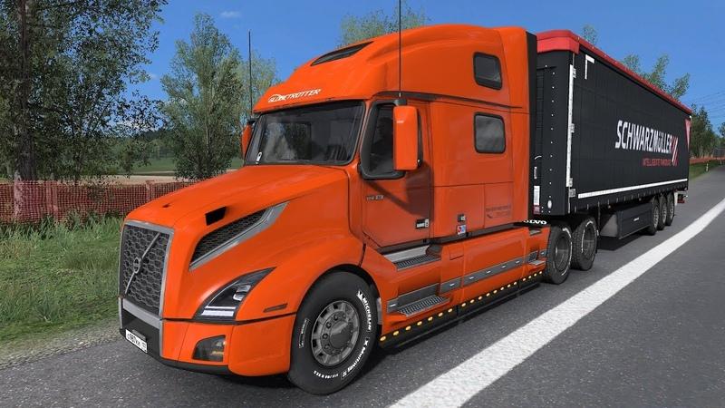 Euro Truck Simulator 2 RusMap ProMods Next Gen Graphic Mod Volvo VNL 860