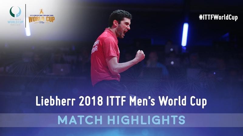 Vladimir Samsonov vs Emmanuel Lebesson I 2018 ITTF Mens World Cup Highlights (Group)