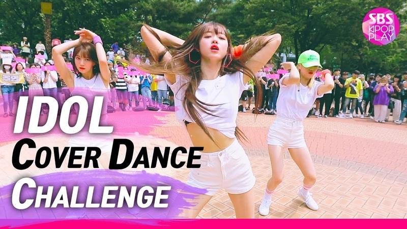 IDOL COVER DANCE CHALLENGE 모모랜드 X 오마이걸 X 우주소녀 X 프로미스나인 '아이돌 커버 댄스 챌린지' 방탄소년단 '작은 것들을 위한 시'