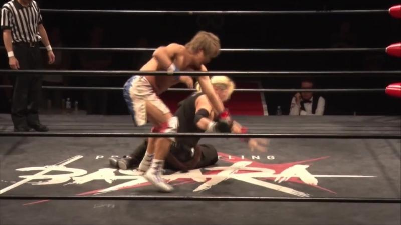Ikuto Hidaka, Fuminori Abe vs. Ryuichi Sekine, Minoru Fujita (BASARA - Vajra 79 ~ Utage)