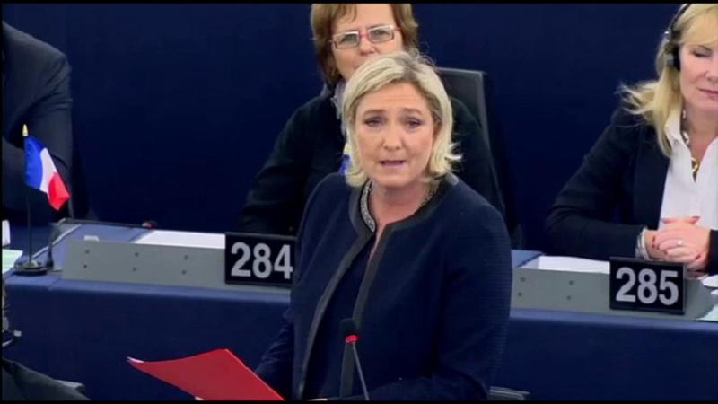 Marine Le Pen sur le déni démocratique de l'UE face au non Wallon