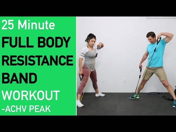 25 Minute Full Body Resistance Band Workout Total Body Resistance Band Workout