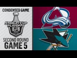 Colorado Avalanche vs San Jose Sharks R2, Gm5 may 4, 2019 HIGHLIGHTS HD