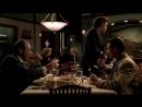 Клан Сопрано S04E10 03 Консильери капитан и солдат обедают в рестике и говорят про Ральфа