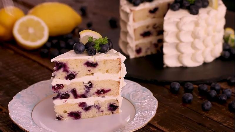 ЧЕРНИЧНО ЛИМОННЫЙ ПИРОГ Вкусный освежающий торт