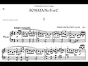 Prokofiev Piano Sonata No. 5 in C Major, Op. 38 (Boris Berman) and Op. 135 (Glemser)