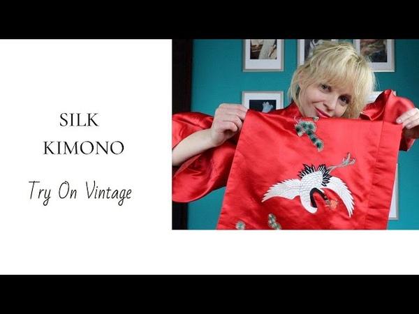 Секонд покупки 70's SILK Kimono Clothing Haul 2019