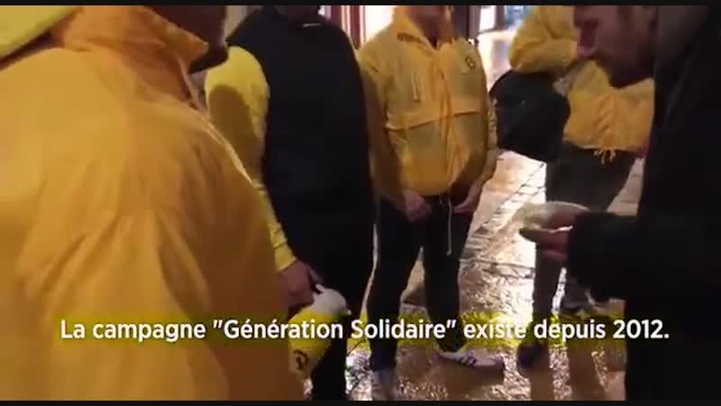 Près de 500 SDF meurent de froid chaque année dans la rue Les jeunes Identitaires sont donc allés apporter nourriture chaleur