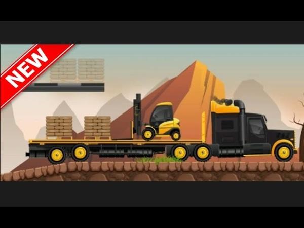 Машинки пикапы погрузчик самосвал кран в мультик игре 2017 года 1 серия Cars pickup trucks loader