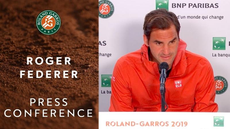 Roger Federer - Press Conference after Quarterfinals | Roland-Garros 2019