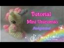 Llavero mini Unicornio amigurumi