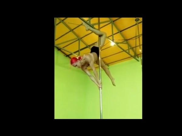 _SoVa_ Pole Dance Sport tricks ( Pole Camp ПИЛОНиЯ )