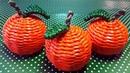 Апельсины - мандарины из бумажных трубочек / Новогодний декор